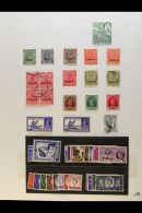 BRITISH ASIA 1850's-1970's Mint & Used Collection On Pages, Inc Aden 1937 Dhow Mint & Used Sets To 8a,... - Stamps