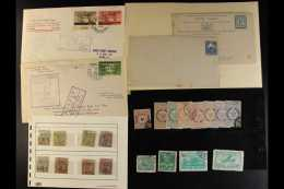INTERESTING WORLD SORTER CARTON. All Periods Mint & Used Stamps In Packets, On Stock Cards, On Leaves, In... - Stamps