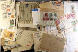 BEHEMOTH COVERS & CARDS ACCUMULATION 1840s- 2016. A Large Box Filled With A Largely Unchecked ALL WORLD Range... - Stamps
