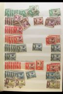 ESTATE ACCUMULATION An Eclectic Mixture Housed In Nine Stockbooks - We See Interesting British Commonwealth With A... - Stamps