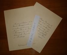 FAIRE-PART MARIAGE 1904 Du RIEU De MARSAGUET # De MONTMEGE Vergt Ch. De Pelvezi Saint-Genies Dordogne Généalogie - Wedding
