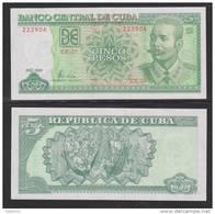 RM)5 PESOS CUBANO 2009 UNC PRISTINE CONDITION - Cuba