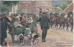 Colour Postcard: The War. The Exodus; Postes Militares Belgique-London, Aug 1917 - War 1914-18