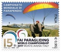Italia Repubblica 2017 Campionato Mondiale Di Parapendio € 0,95 MNH** Integro - 2011-...:  Nuovi