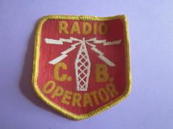 ECUSSON TISSU ANCIEN RADIO CB OPERATOR - Ecussons Tissu