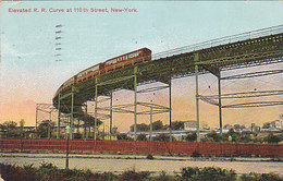 New York - RR-Curve At 110th Street - 1909    (A-41-160625) - Transports