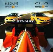 CPM  Format 15x15 - Renault F1 Team  Sport - Mégane Et Clio - Sport Automobile