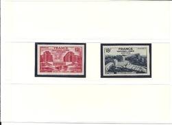Timbres  N° 818 Et  819 De 1948 Non Dentelés (voir Les 2 Scans Cote 305 Euros) - Francia