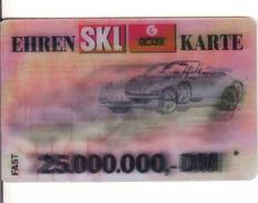 Lottery Ticket Ehren  SKL Glöckle Karte,PLASTIC Karte, Auto, Car - Lotterielose