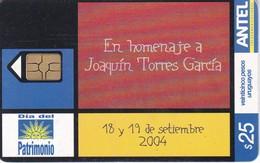 Nº 344 TARJETA DE URUGUAY DEL DIA DEL PATRIMONIO - Uruguay