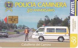 Nº 350 TARJETA DE URUGUAY DE LA POLICIA CAMINERA (POLICE) - Uruguay