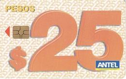 Nº 382b TARJETA DE URUGUAY DE 25 PESOS DEL 04/2006 Y TIRADA 300000 (CHIP G5 ROJO) - Uruguay