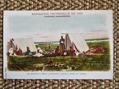 C.P.A.: Exposition Universelle De 1900 Panorama Transsibérien, Campement KIRGHIS Près De TOMSK - Kirghizistan