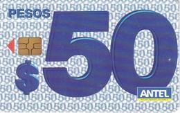 Nº 383a TARJETA DE URUGUAY DE 50 PESOS DEL 04/2005 Y TIRADA 200000 (CHIP G4 NEGRO) - Uruguay