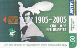 Nº 393 TARJETA DE URUGUAY DEL CIRCULO DE BELLAS ARTES 1905-2005 - Uruguay