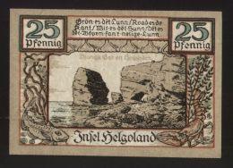 Notgeld - Helgoland - 25 Pf. Geldschein - April 1921 - Lokale Ausgaben