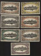 Notgeld - Neidenburg, Ostpreussen - Je 2 X 10 Pf., 25 Pf., + 50 Pf. + 1 X 75 Pf. Geldschein - 22.9.1920 - Lokale Ausgaben