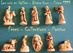 """Fèves Série Complète """"Les Rois En Galilée - Bistre Brun"""" Prime 1999 - Santons"""