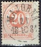 SWEDEN # FROM 1872 STAMPWORLD 22A Light Orange Red - Oblitérés