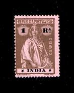 ! ! Portuguese India - 1914 Ceres 1 Rp - Af. 270 - MH - India Portoghese