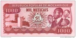 MOZAMBIQUE 1000 METICAIS 1989 P-132c UNC  [ MZ217c ] - Mozambique
