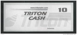 "Test Note ""TRITON"" Testnote, Typ B, 10 Units, Beids. Druck, Sample, RRR, UNC - USA"