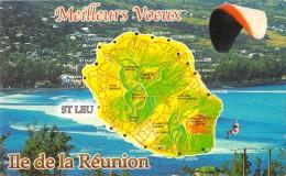 ILE DE LA REUNION MULTIVUE ET CARTE GEOGRAPHIQUE - La Réunion