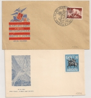 2 Covers JUGOSLAVIJA. YOUGOSLAVIE. 1950 And 1955. - Covers & Documents