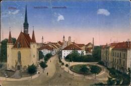 Ansichtskarte Zittau Weberkirche Und Weberstraße 1919 - Zittau