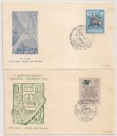 2 Covers JUGOSLAVIJA. YOUGOSLAVIE. 1955. - 1945-1992 Socialist Federal Republic Of Yugoslavia