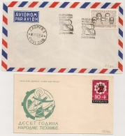 2 Covers JUGOSLAVIJA. YOUGOSLAVIE. Zagreb. - Covers & Documents