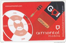 ARMENIA - ArmenTel Prepaid Card 2500 AMD, Exp.date 31/12/08, Used - Armenia