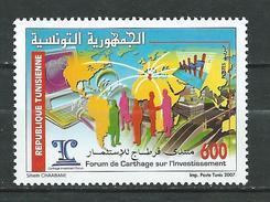Tunisie. Tunisia.2007 Investment Forum In Carthage. MNH - Tunisia