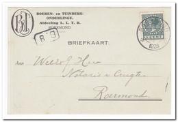 Briefkaart 1928 Binnen Roermond ( Boeren En Tuinders-onderlinge Afdeeling L.L.T.B. ) - 1891-1948 (Wilhelmine)