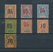 GUINÉE 1912 - Série Type Groupe N°48/54 Surchargés Neufs* Avec Charnière MLN - Cote 26,50 Euros; - Guinée Française (1892-1944)