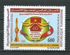 Tunisie. Tunisia 2008 The 60th Anniversary Of The Universal Declaration Of Human Rights. MNH - Tunisia