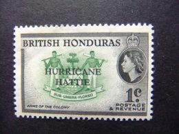 HONDURAS BRITANNIQUE 1962 OURAGAN HATTIE Yvert 166 MNH - British Honduras (...-1970)