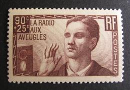 LOT BP/27 - 1938 - LA RADIO AUX AVEUGLES N°418 - NEUF ** - Cote : 20,00 € - Nuovi