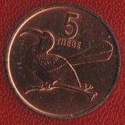 BOTSWANA 5 THEBE 1976 Calao à Bec Rouge (Tockus Erythrorhynchus)  KM# 4 - Botswana