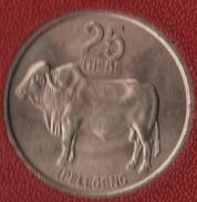 BOTSWANA 25 THEBE 1976 Zébu KM# 6 - Botswana