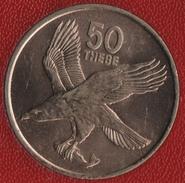 BOTSWANA 50 THEBE 1976 AIGLE EAGLE KM# 7 - Botswana