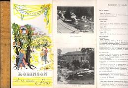 Dépliant Touristique  ROBINSON ( LE PLESSY )   Vers 1950 - Reiseprospekte