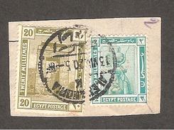 Perfin Perforé Firmenlochung Egypt YT50 + YT56 (or YT 45?)  CL A Crédit Lyonnais Alexandrie - 1915-1921 Protectorat Britannique