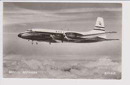 Rppc BOAC B.O.A.C. British Overseas Airways Corporation Bristol175 Britannia Aircraft No 2 - 1946-....: Era Moderna