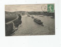 BONNIERES SUR SEINE (S ET O) 7 VUE SUR LES COTEAUX DE JEULOSSE 1913  (PENICHES) - Bonnieres Sur Seine