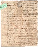 VP10.255 - Cachet De Généralité De LA ROCHELLE - Acte De 1790 - Ville De NIORT - Seals Of Generality