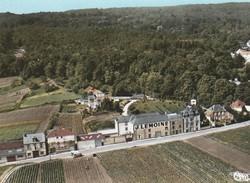 CP  51  RILLY -la -MONTAGNE  Ac 509-108 A  Vue  Aèrienne  Route  De  Chigny -les -forges -village 1100 Habitants - Rilly-la-Montagne