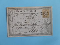 CERES DENTELE 59 SUR PRECURSEUR DES CARTES POSTALES DE LISIEUX A LILLE DU 29 OCTOBRE 1875  (GROS CHIFFRE 2056) - 1849-1876: Période Classique