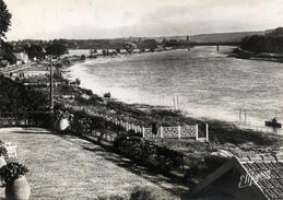 77 MELUN Les Bords De La Seine - Le Pont De La Rochette (photo Prise Depuis Vaux Le Pénil) CPSM 1950 - Frankreich