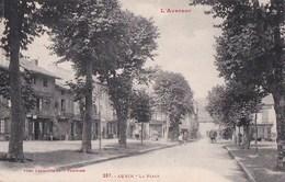 12 AUBIN  Coin Du VILLAGE Animé Commerces AUBERGE ALARY  Sur La Place Timbre 1927 - France